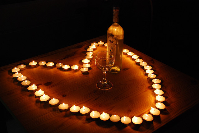 candles in heart